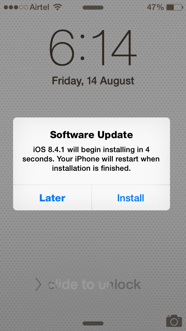 iOS 8.4.1 update for iPhone