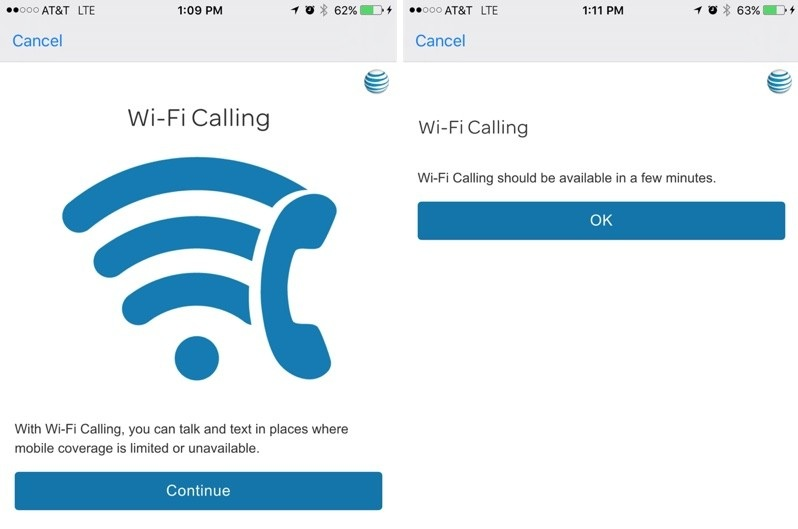 WiFi Calling Option on iPhone
