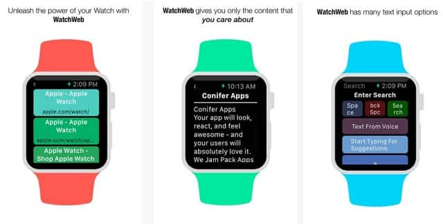 Apple Watch browser