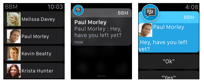 BBM for Apple Watch
