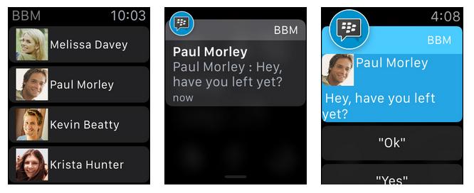 BBM for Apple Watch