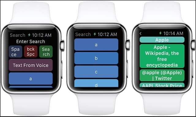 Web browser for Apple Watch