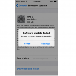 iOS 9 'Software Update Failed' Error on iPhone, iPad