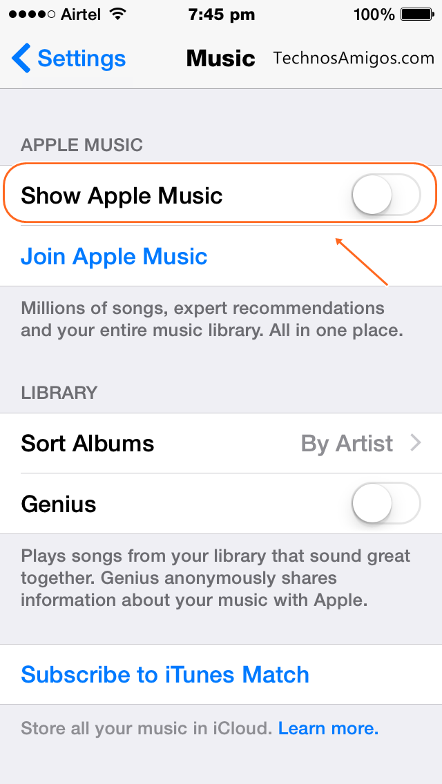 Apple Music Toggle