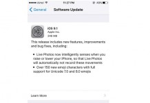 Apple iOS 9.1 Update