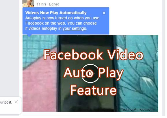 Disable Facebook Video Auto Play