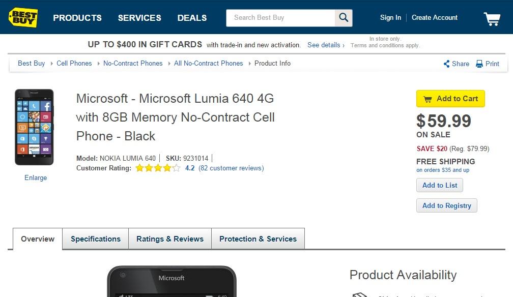 Microsoft Lumia 640 AT&T