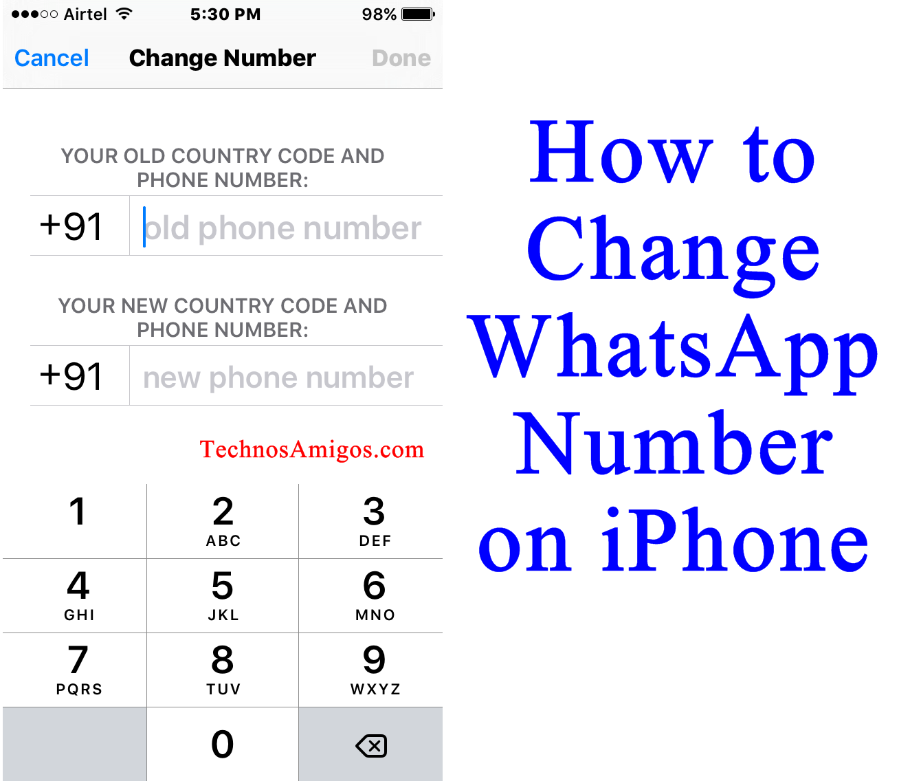 WhatsApp iPhone Change