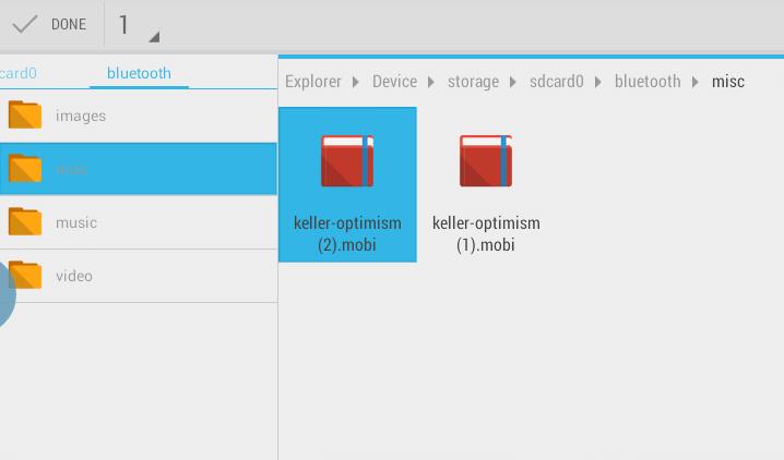 Mobile file on Kindle