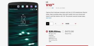 Verizon LG V10 phone