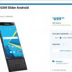 Buy BlackBerry Priv Unlocked Version from Walmart at $699