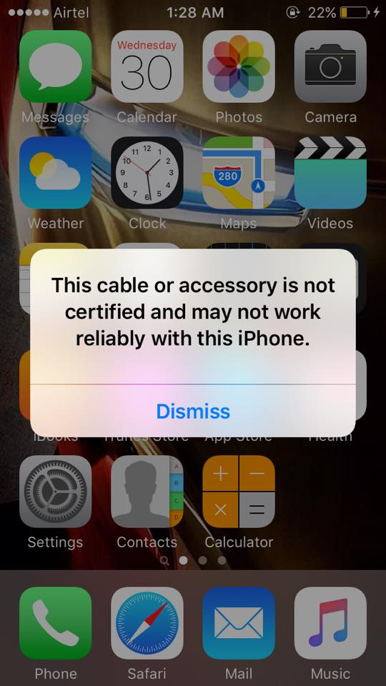 Certified iPhone cable