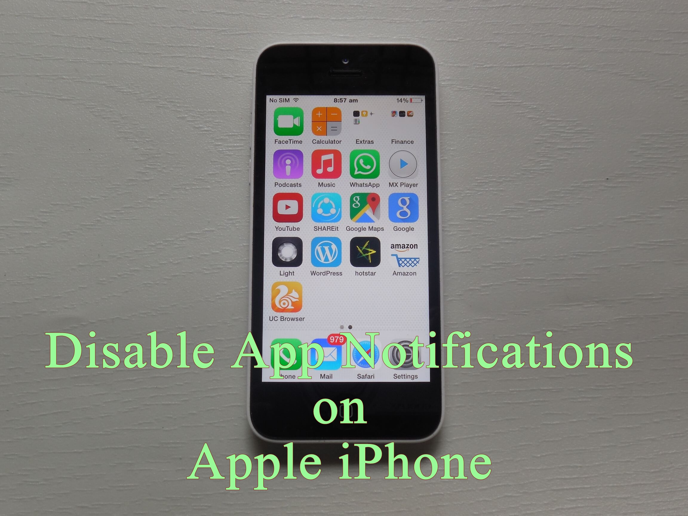 Disable iPhone App Notifications