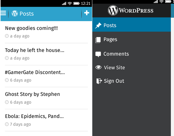WordPress for Firefox OS