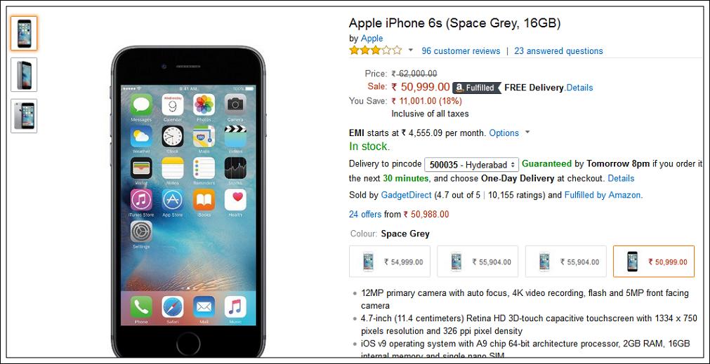 iPhone 6S Discount
