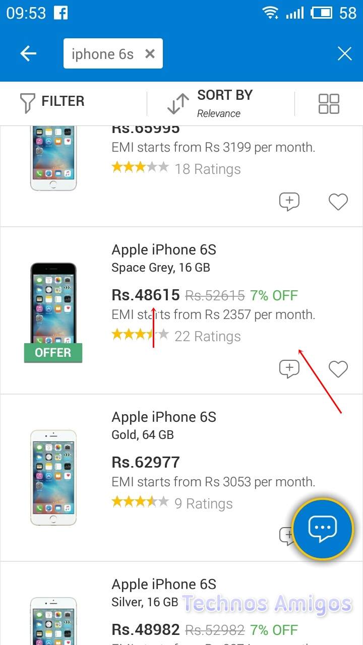Apple iPhone 6S Flipkart Price