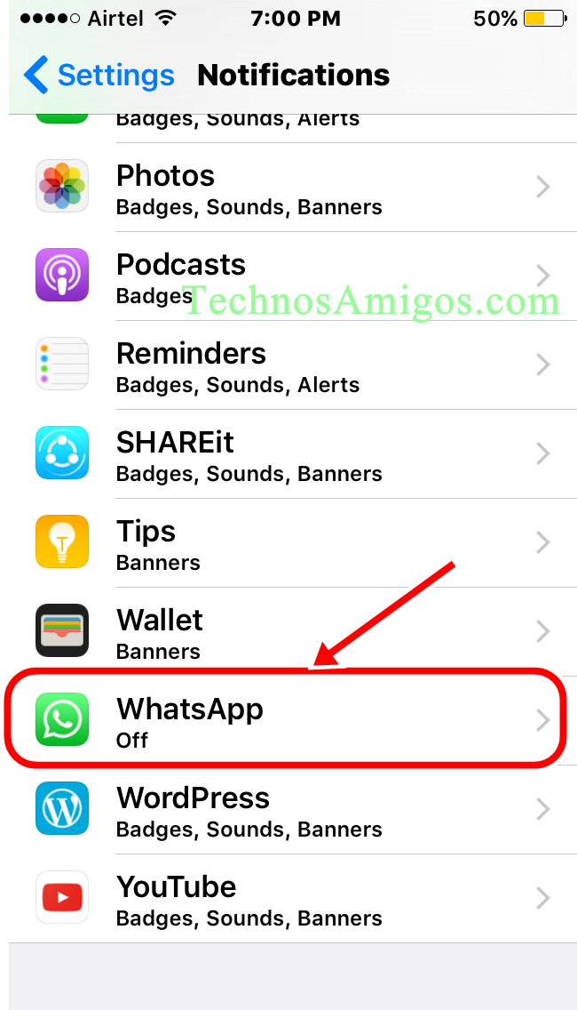 iPhone Notification Settings