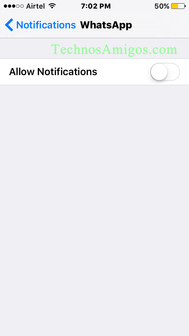 iPhone Turn Off Notifications