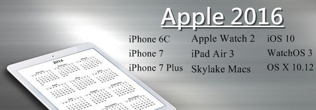 Apple 2016 Plans