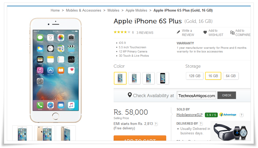 IPhone 6S Plus Price in India