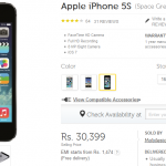 iPhone 5S 32 GB Now at Rs 28,444