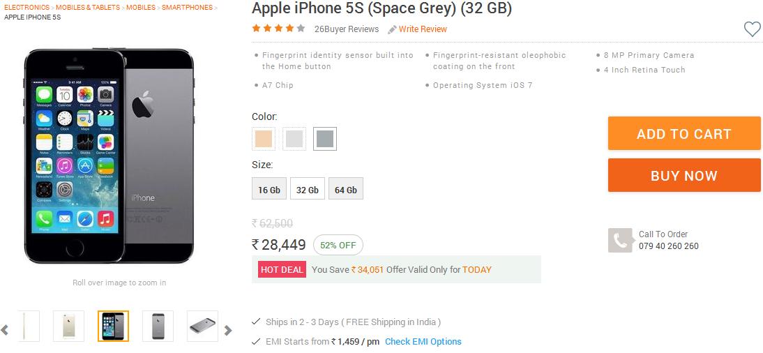 iPhone 5S Infibeam