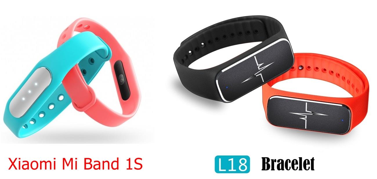 Xiaomi Mi Band 1S vs L18 Band