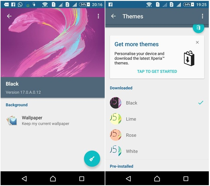 Default XPeria X Themes