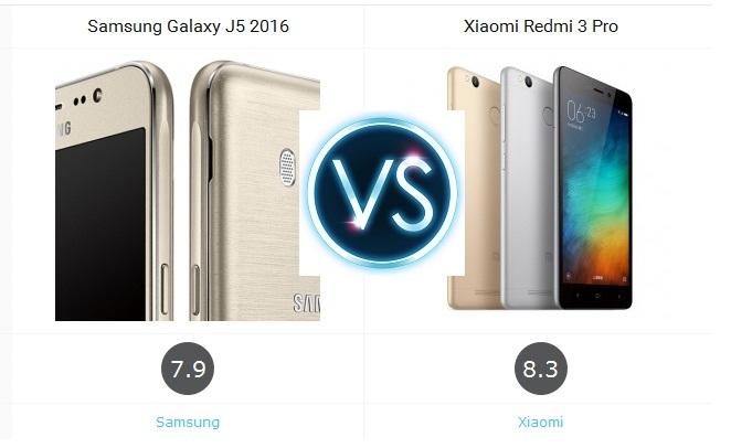 Galaxy J5 2015 vs Xiaomi Redmi 3 Pro