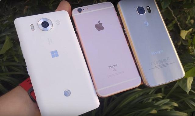 Galaxy S7 vs iPhone 6S vs Lumia 950