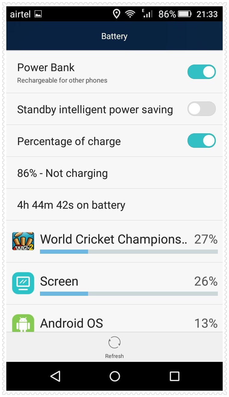 Honor Holly 2 Plus Battery Life