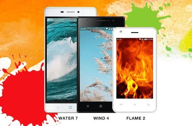 Screenshot on Reliance Jio phones