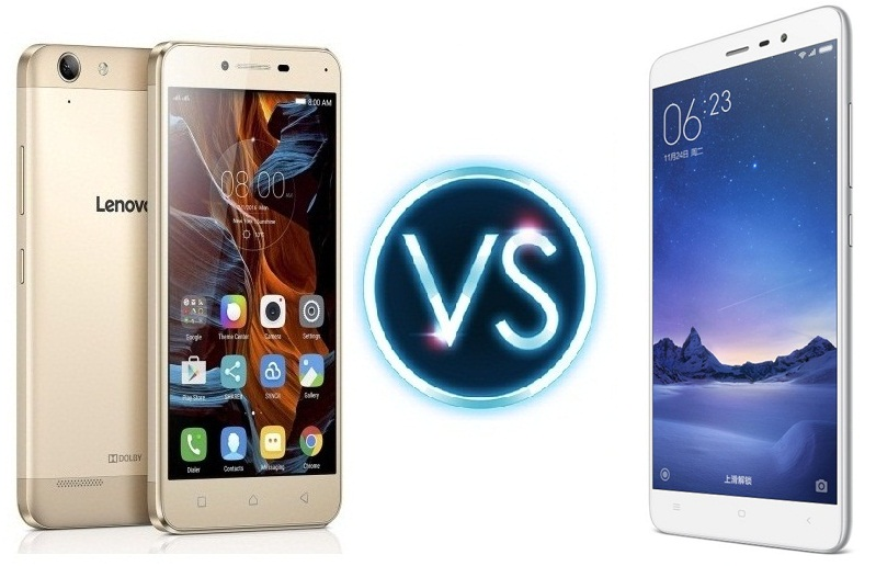 Lenovo Vibe K5 Plus vs Redmi Note 3