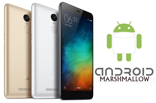 Xiaomi Redmi Note 3 Marshmallow update