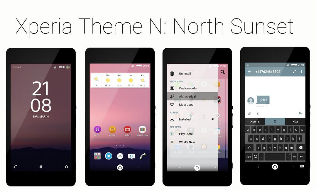 Sony Xperia Android N Theme
