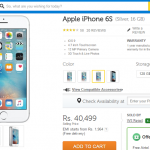 Apple iPhone 6S 16 GB Now Available at Rs 40,499