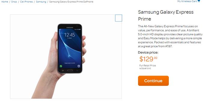 AT&T Galaxy Express Prime