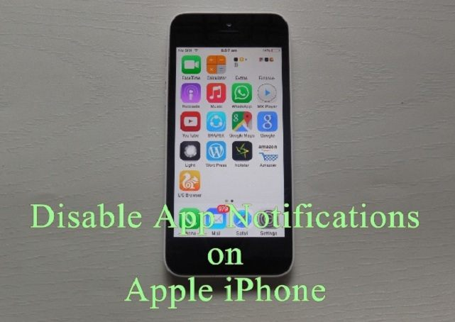 Disable App Notifications on Apple iPhone