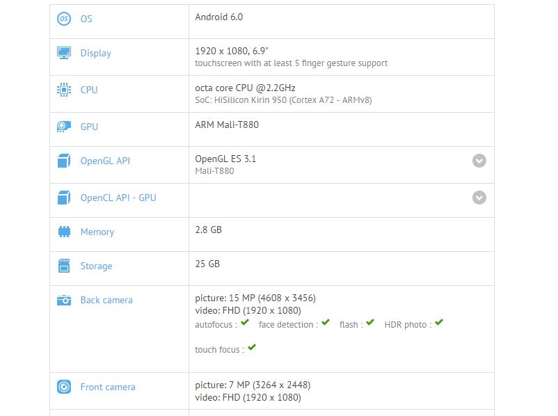 Huawei P9 Max GFXBench
