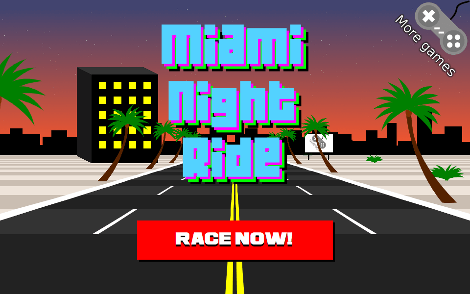Miami Night Ride 3D Racing