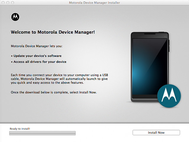 Motorola Device Manager App