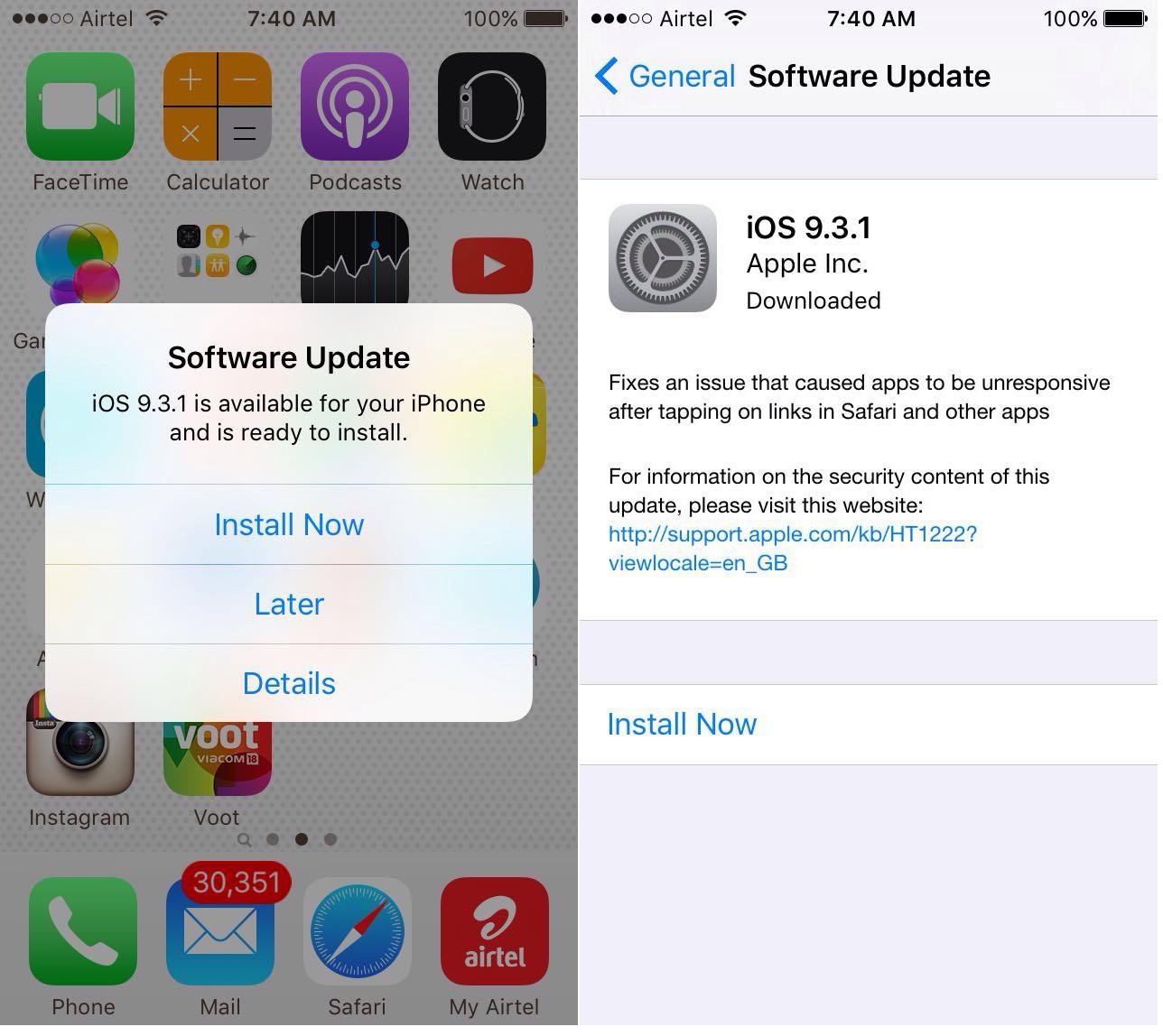 iOS 9.3.1 OTA Update Now Rolling Worldwide