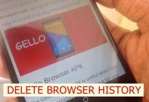 Delete Gello Browser history