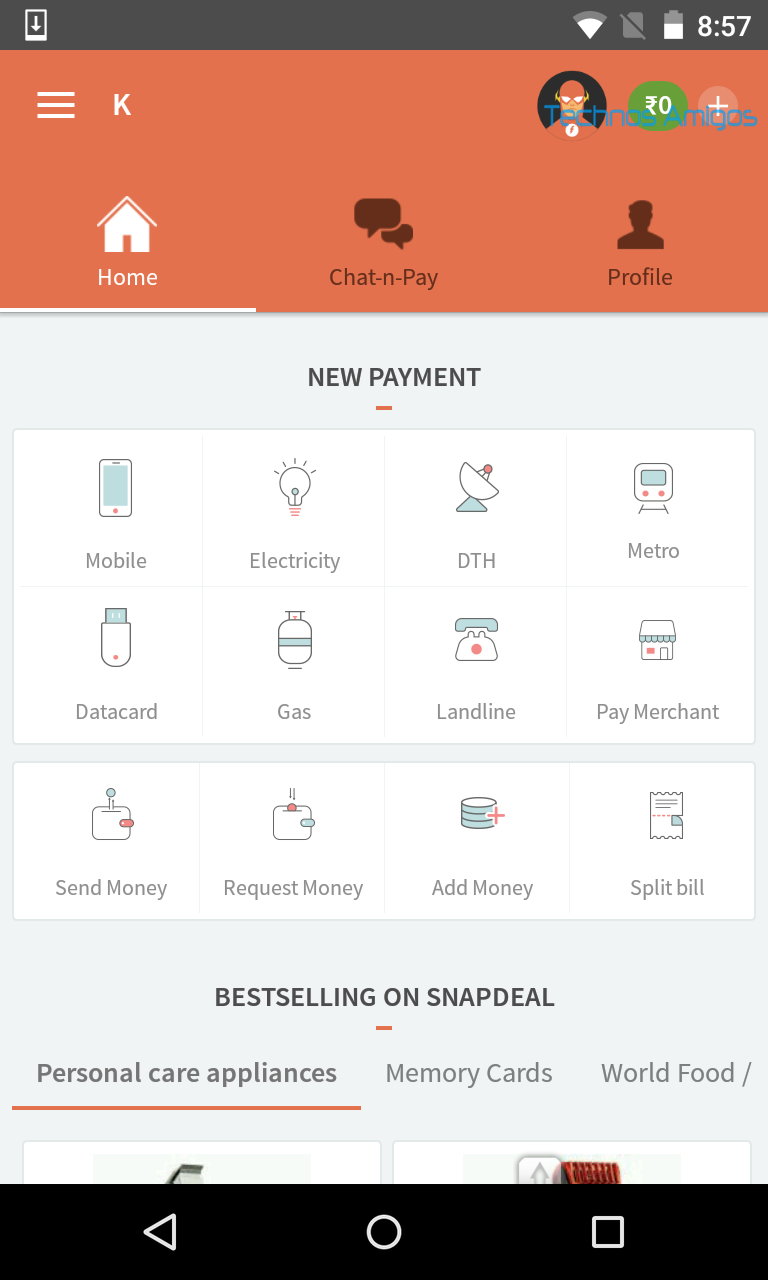 Freecharge Chat n Pay