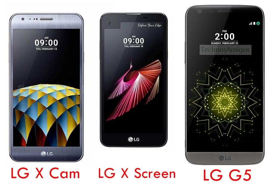 LG X Screen vs LG X Cam vs LG G5