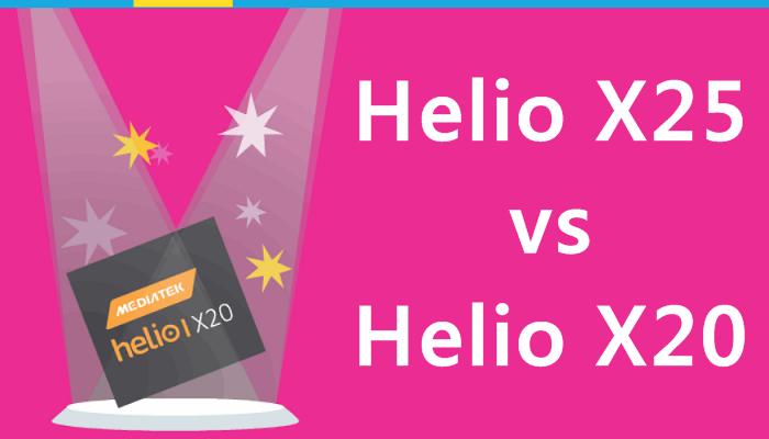 Mediatek Helio X20 vs Helio X25