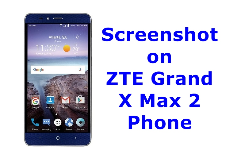 Screenshot on ZTE Grand X Max 2