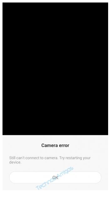 Xiaomi Camera Error