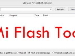 Xiaomi mi flash tool