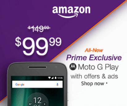 Amazon Moto G Promotion